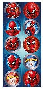 Adesivo Redondo Festa Homem Aranha - 30 unidades - Regina - Rizzo Festas