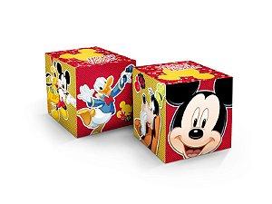 Cubo Decorativa Festa Mickey Mouse - 03 unidades - Regina - Rizzo Festas