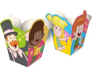 Mini Cachepot Festa Mundo Bita - 08 unidades - Regina - Rizzo Festas