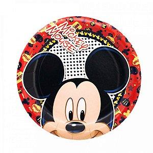 Prato Festa Mickey Mouse 18cm - 12 unidades - Regina - Rizzo Embalagens