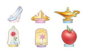 Decoração de Mesa Festa Disney Princesas - 6 unidades - Regina - Rizzo Festas