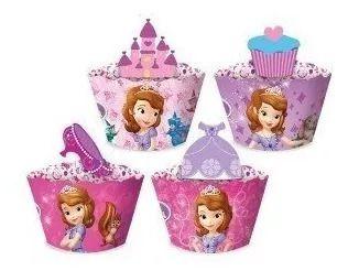 Forminha Wrap para Cupcake Festa Princesinha Sofia - 12 unidades - Regina - Rizzo Festas