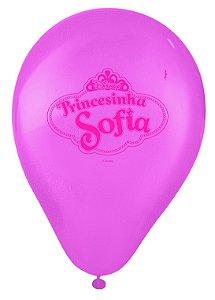 """Balão Festa Princesinha Sofia 9"""" - 25 unidades - Regina - Rizzo Festas"""