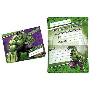 Convite Festa Vingadores Hulk - 8 Unidades - Regina - Rizzo Festas