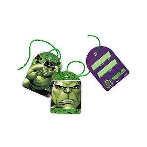 Tag com Cordão Festa Vingadores Hulk - 08 Unidades - Regina - Rizzo Festas