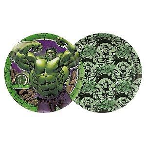 Prato Redondo 18 cm Festa Vingadores Hulk - 12 Unidades - Regina - Rizzo Festas