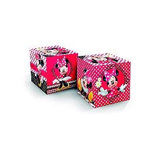 Cubo Decorativo Festa Minnie - 03 unidades - Regina - Rizzo Festas