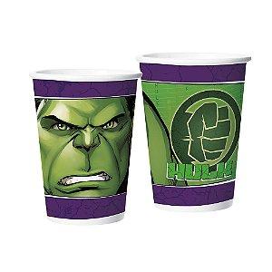 Copo de Papel Festa Vingadores Hulk 180ml - 12 Unidades - Regina - Rizzo Festas