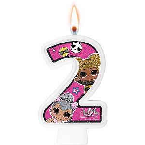 Vela Festa LOL Surprise Número 2 - 01 Unidade - Regina Festas - Rizzo Festas