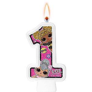 Vela Festa LOL Surprise Número 1  - 01 Unidade - Regina Festas - Rizzo Festas