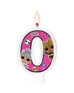 Vela Festa LOL Surprise Número 0 - 01 Unidade - Regina Festas - Rizzo Festas