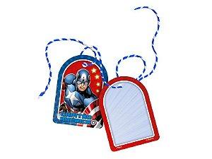 Tag com Cordão Festa Vingadores Capitão América - 8 Unidades - Regina - Rizzo Festas