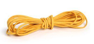 Cordão de Camurça Amarelo 5m - 01 unidade - Cromus - Rizzo Embalagens