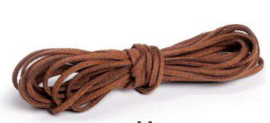Cordão de Camurça Marrom 5m - 01 unidade - Cromus - Rizzo Embalagens