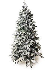 Árvore Rosário Nevada 210cm - 01 unidade - Cromus Natal - Rizzo Embalagens