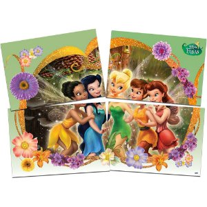 Painel Decorativo Festa 4 Laminas Festa Fadas Disney - 01 Unidade - Festcolor - Rizzo Festas