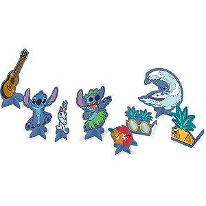 Decoração de Mesa Festa Stitch - 8 unidades - Festcolor - Rizzo Festas