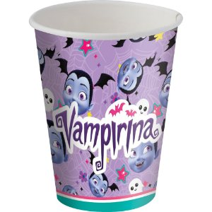 Copo de Papel 200ml Festa Vampirina  - 8 unidades - Festcolor - Rizzo Festas