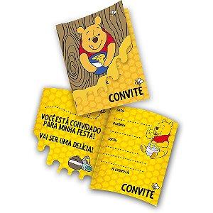 Convite Festa Pooh e sua Turma - 08 Unidades - Festcolor - Rizzo Festas