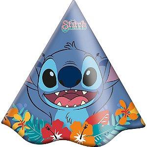 Chapéu Festa Stitch - 08 Unidades - Festcolor - Rizzo Embalagens