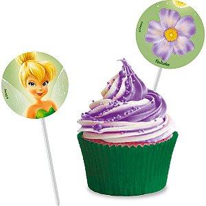 Pick p/ Docinhos Festa Fadas Disney - 8 unidades - Festcolor - Rizzo Festas