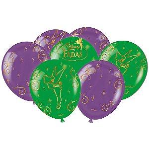Balão Festa Fadas Disney - 25 unidades - Festcolor - Rizzo Festas