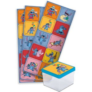 Adesivo Quadrado Festa Stitch - 30 unidades - Festcolor - Rizzo Festas
