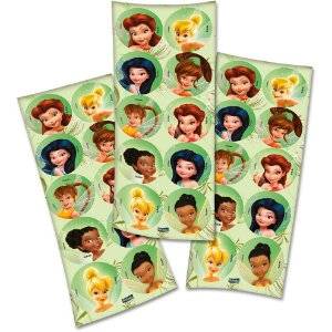 Adesivo Redondo Festa Fadas Disney - 30 unidades - Festcolor - Rizzo Festas