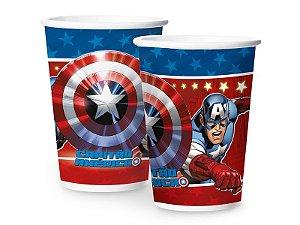Copo de Papel Festa Vingadores Capitão América 180ml - 8 Unidades - Regina - Rizzo Festas