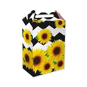 Caixa Surpresa Festa Girassol - 8 unidades - Festcolor - Rizzo Festas