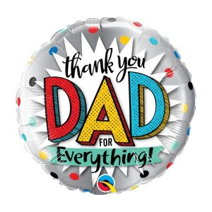 "Balão de Festa Bubble 18"" - Thank You Dad For Everything- 01 Unidade - Qualatex - Rizzo Embalagens"