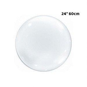 """Balão Bubble Transparente - 24"""" 60cm - 01 Unidade - Bobo Balloon - Rizzo Embalagens"""