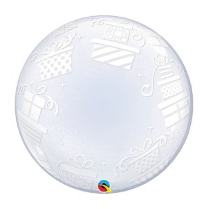 "Balão de Festa Bubble Duplo 24"" 60cm - Happy Birthday Presentes - 01 Unidade - Qualatex - Rizzo Embalagens"