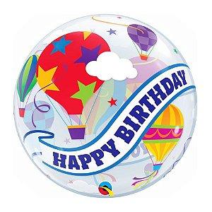 """Balão de Festa Bubble 22"""" 56cm - Happy Birthday to You Balão - 01 Unidade - Qualatex - Rizzo Embalagens"""
