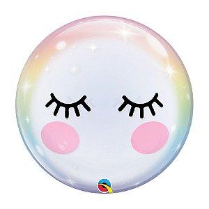 """Balão de Festa Bubble 22"""" 56cm - Cílios - 01 Unidade - Qualatex - Rizzo Embalagens"""