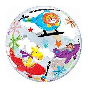 """Balão de Festa Bubble 22"""" 56cm - Circo Aéreo - 01 Unidade - Qualatex - Rizzo Embalagens"""