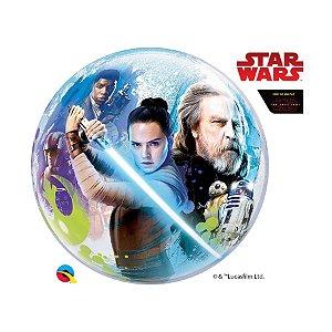 "Balão de Festa Bubble 22"" 56cm - Star Wars - 01 Unidade - Qualatex Disney - Rizzo Embalagens"