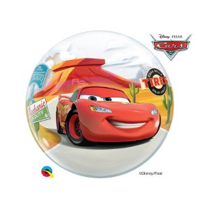 """Balão de Festa Bubble 22"""" 56cm - Cars - 01 Unidade - Qualatex Disney - Rizzo Embalagens"""