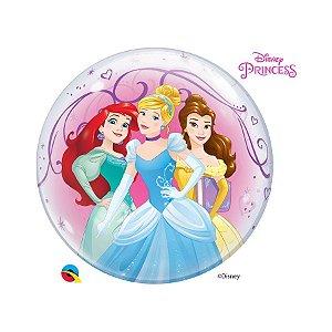 """Balão de Festa Bubble 22"""" 56cm - Princesas da Disney - 01 Unidade - Qualatex Disney - Rizzo Balões"""