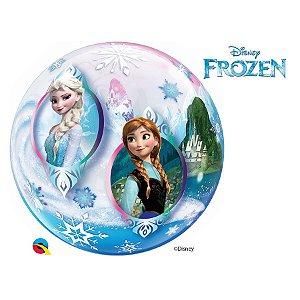 "Balão de Festa Bubble 22"" 56cm - Frozen - 01 Unidade - Qualatex Disney - Rizzo Embalagens"