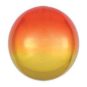 Balão de Festa Bubble - Metal Degradê Dourado - 01 Unidade - Cromus - Rizzo Embalagens