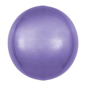 Balão de Festa Bubble - Metal Roxo - 01 Unidade - Cromus - Rizzo Embalagens