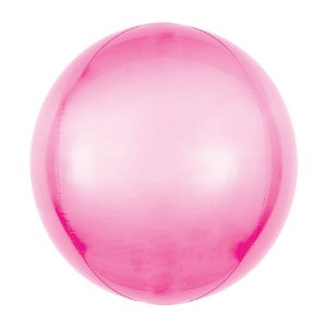 Balão de Festa Bubble - Metal Rosa - 01 Unidade - Cromus - Rizzo Embalagens