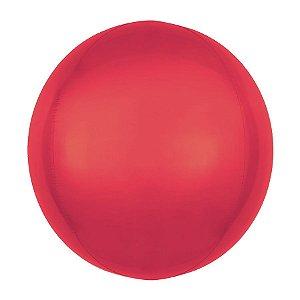 Balão de Festa Bubble - Metal Vermelho - 01 Unidade - Cromus - Rizzo Embalagens