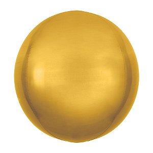 Balão de Festa Bubble - Metal Ouro - 01 Unidade - Cromus - Rizzo Embalagens