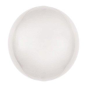 Balão de Festa Bubble - Metal Branco - 01 Unidade - Cromus - Rizzo Embalagens