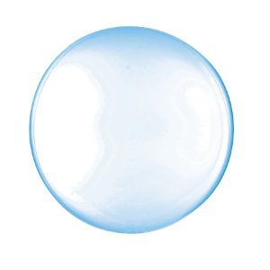 Balão de Festa Bubble - Clear Azul - 01 Unidade - Cromus - Rizzo Embalagens