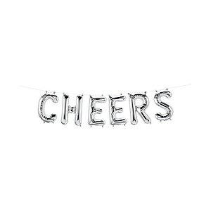 """Balão de Festa Microfoil 16"""" 40cm - Cheers Prata - 01 Unidade - Qualatex - Rizzo Embalagens"""
