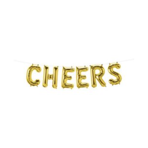 """Balão de Festa Microfoil 16"""" 40cm - Cheers Ouro - 01 Unidade - Qualatex - Rizzo Embalagens"""