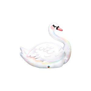 """Balão de Festa Microfoil 36"""" 90cm - Cisne Gracioso - 01 Unidade - Qualatex - Rizzo Balões"""